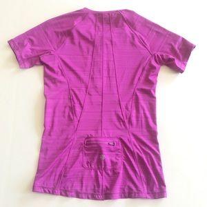ATHLETA Pink Biker Workout Shirt Size S
